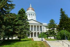 Maine State House, Augusta. Maine State House is the state capitol of the State of Maine in Augusta, Maine, USA. Maine State House was built in 1832 with Greek stock photo