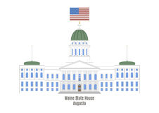 Maine State House, Augusta. Maine State House in Augusta, United States of America Royalty Free Stock Photography