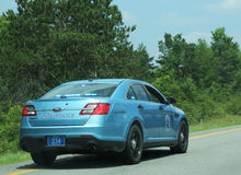 Maine State Police bil Fotografering för Bildbyråer