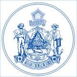 Maine State Seal illustration stock