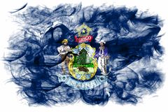 Maine state smoke flag, United States Of America. On a white background stock photo