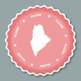 Maine sticker flat design. Royalty Free Stock Image