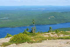 Maine USA Örn Lake royaltyfria foton
