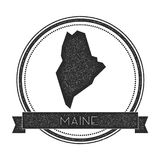 Maine vector map stamp. Stock Photo
