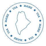 Maine vector map sticker. Stock Photography