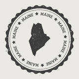 Maine vector sticker. Royalty Free Stock Images