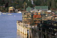 Maine Village Royalty Free Stock Images