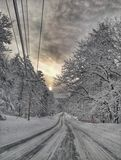 Maine zima zdjęcia stock