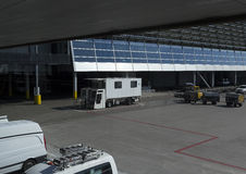 Mainenance vehicle at the airport Stock Photos