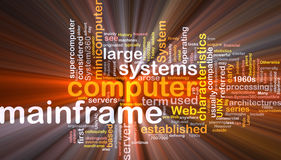 Mainframe word cloud box package Royalty Free Stock Image