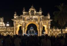 Maingate av den Mysore slotten Fotografering för Bildbyråer