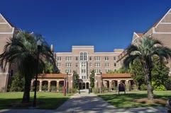 Maingate av Landis Hall på den Florida delstatsuniversitetet på Tallahassee, USA arkivbilder
