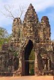 Maingate Thom Angkor στο ναό Bayon σύνθετο Στοκ Φωτογραφία