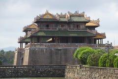 Maingaten av den imperialistiska Forbidden City closeupen i profil ton Arkivbilder