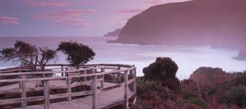 Maingon zatoka przy półmrokiem Obrazy Royalty Free