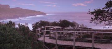 Maingon zatoka przy półmrokiem Zdjęcia Royalty Free