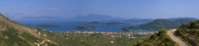 Mainland and islands panorama Royalty Free Stock Photos