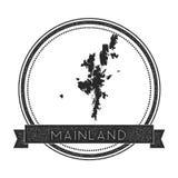 Mainland map stamp. Stock Photo