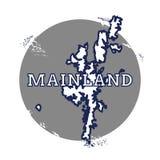 Mainland vector map. Royalty Free Stock Image