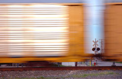 Mainline area Railyard Detroit. Train automotive cars in motion Stock Photo