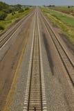 Mainline triplo da trilha da estrada de ferro Foto de Stock