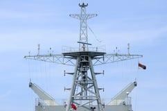 Mainmast современного военного корабля, Таиланда Стоковые Изображения