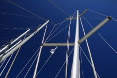 Mainmast. Of boat in the port of Cagliari, Sardinia Royalty Free Stock Photos