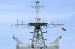 Mainmast of modern warship, Thailand. Stock Images