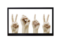 Mains 2012 dans le moniteur Photos libres de droits