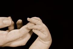 Mains affectueuses photographie stock libre de droits