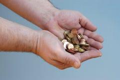Mains : argent Image libre de droits