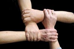 Mains associées à l'union Images libres de droits