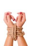 Mains attachées Image libre de droits