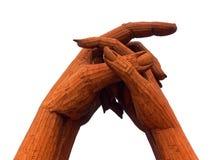 Mains augmentées et étreintes Images stock
