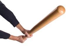 Mains avec 'bat' Image libre de droits