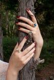 Mains avec des anneaux photo libre de droits