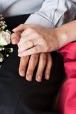 Mains avec des boucles Photographie stock