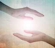 Mains avec l'espace vide Image libre de droits