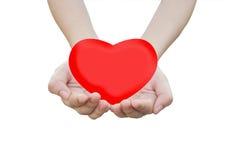 Mains avec le coeur photographie stock libre de droits