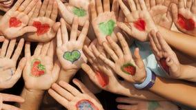 Mains avec le coeur Image libre de droits