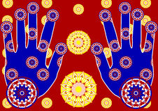 Mains avec le tracery illustration de vecteur