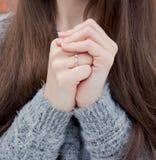 Mains chaudes Images libres de droits