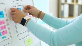 Mains collant des calibres pour la conception de smartphone clips vidéos