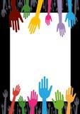Mains colorées Photographie stock