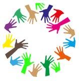 Mains colorées Photo libre de droits