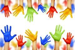 Mains colorées Image libre de droits
