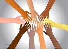 Mains colorées Photo stock