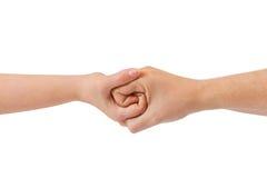mains connectées Photo libre de droits