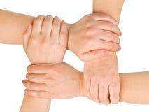 mains connectées Photographie stock libre de droits