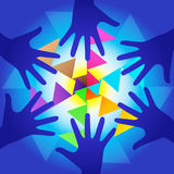 Mains curatives d'énergie illustration libre de droits